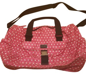 Ralph Lauren Polka Dot Gym Duffle Pink, White and Black Travel Bag