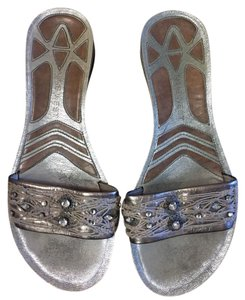Nine West Silver Metallic Sandals