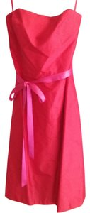 Cinnamon And Hot Pink Strapless Silk Dupioni Dress Dress