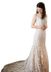 BHLDN Ivory Lace Adalynn Feminine Wedding Dress Size 4 (S)