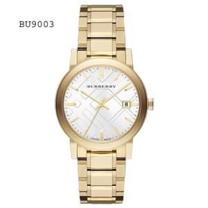 Burberry Burberry Mens BU9003 Large Check Goldtone Bracelet Sporty Watch BU9003