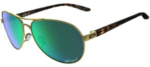 Oakley OAKLEY FEEDBACK WOMEN'S POLARIZED SUNGLASSES POLISHED GOLD W JADE IRID