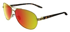 Oakley OAKLEY FEEDBACK WOMEN'S POLARIZED SUNGLASSES POLISHED GOLD W RUBY IRID
