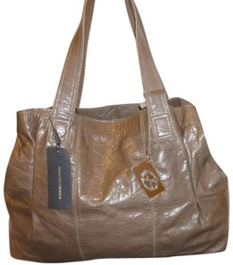 Francesco Biasia Nwt X-lg Leather 2 Parts Tote in Taupe