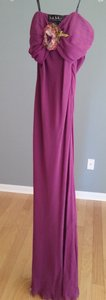 Nicole Miller Plum Strapless Gown Dress