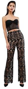 self-portrait Lace Trouser Pants black