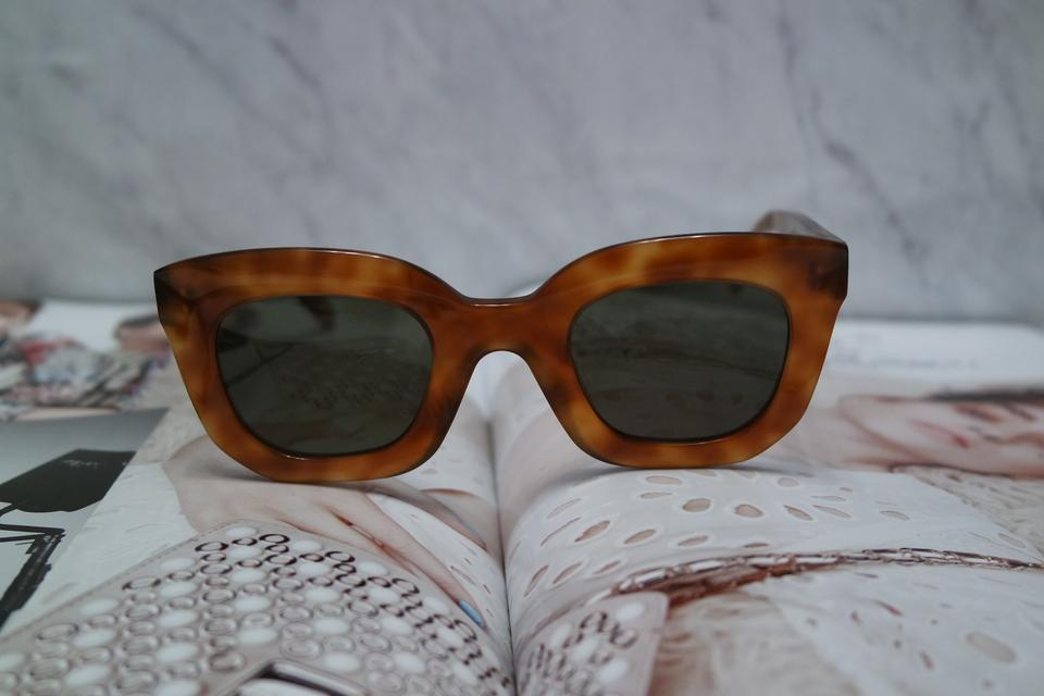 81013923c3075 Céline Celine 41091 S Baby Marta Light Havana Brown Sunglasses Image 7.  12345678