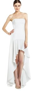BCBGMAXAZRIA High Low Ruffle Hi Lo Strapless Dress