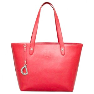Ralph Lauren Leather Classic Tote in Red