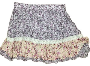 LF Mini Skirt Purple Floral