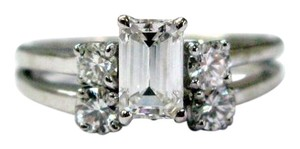 Other Fine Emerald Cut Diamond Engagement Wedding Set WG 1.17CT