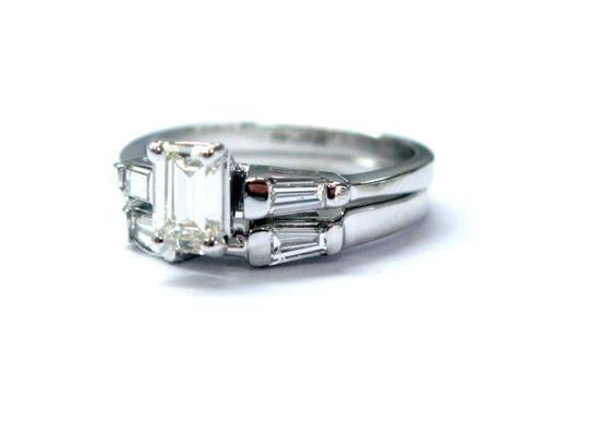 Other 18KT Emerald Cut Diamond Engagement Wedding Set Solitaire W Accent WG