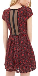 Forever 21 short dress Red/Black on Tradesy