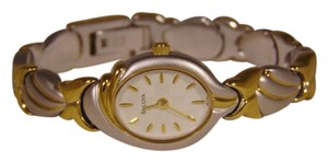 Bulova Display model of Bulova two tone ladies watch.