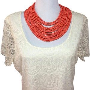Other Multi strand coral beaded necklace