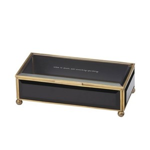 Kate Spade when in doubt, add something sparkling' glass jewelry box