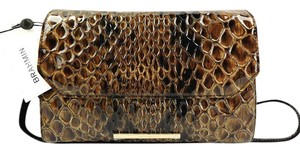 Brahmin Snake Emboss Leather Multi Clutch/Shoulder Small Size Shoulder Bag