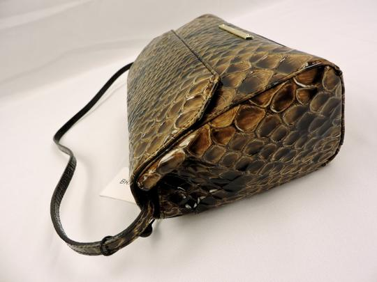 Brahmin Snake Emboss Leather Multi Clutch/Shoulder Small Size Shoulder Bag Image 1