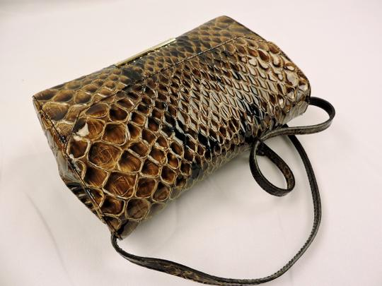 Brahmin Snake Emboss Leather Multi Clutch/Shoulder Small Size Shoulder Bag Image 3