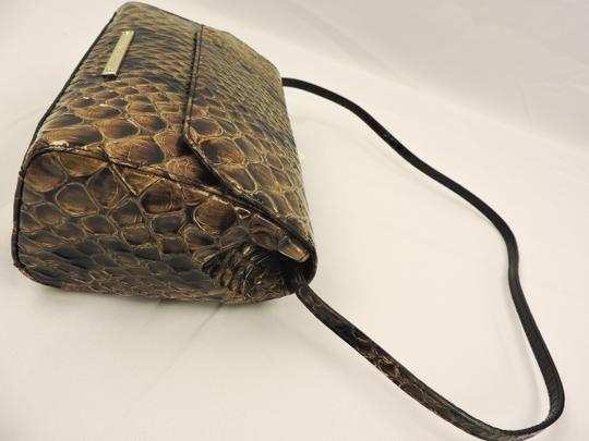 Brahmin Snake Emboss Leather Multi Clutch/Shoulder Small Size Shoulder Bag Image 4