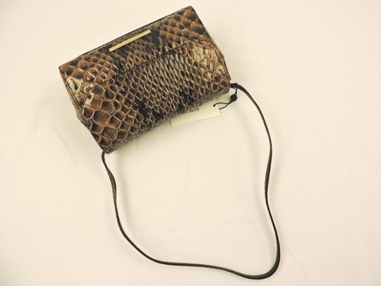 Brahmin Snake Emboss Leather Multi Clutch/Shoulder Small Size Shoulder Bag Image 5