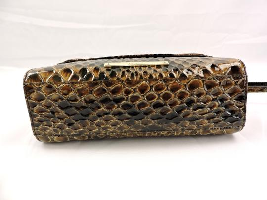Brahmin Snake Emboss Leather Multi Clutch/Shoulder Small Size Shoulder Bag Image 7