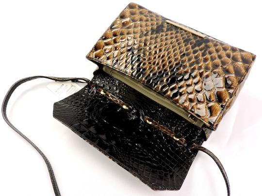 Brahmin Snake Emboss Leather Multi Clutch/Shoulder Small Size Shoulder Bag Image 8