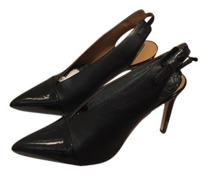 Calvin Klein Leather Patent Leather Black Pumps