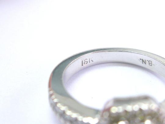 Other 18Kt Princess Cut & Fancy Yellow Diamond Engagement White Gold Ring .8