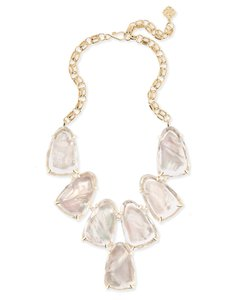 Kendra Scott TWO Kendra Scott Harlow Necklaces in Ivory Pearl & Rose Quartz