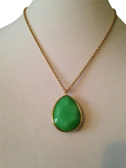 Fossil NWOT Faceted Green Onyx Gemstone Necklace