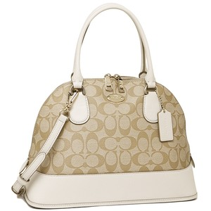 Coach Satchel in Saddle Chalk