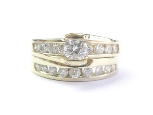Other Fine Round Cut Diamond Channel Set Yellow Gold Wedding Set 14KT 1.40Ct