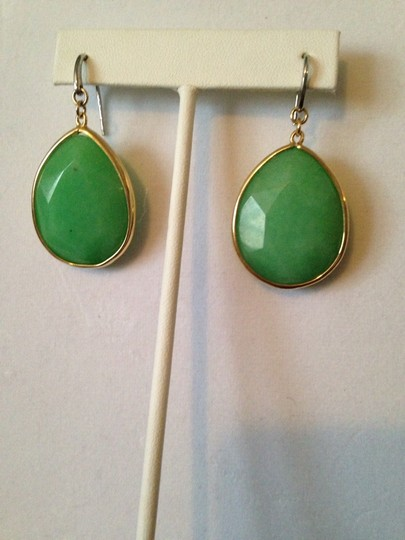 Fossil NWOT Faceted Green Onyx Gemstone Earrings