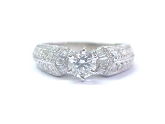 Preload https://img-static.tradesy.com/item/21044569/f-fine-round-and-baguette-diamond-engagement-white-gold-14kt-egl-usa-ring-0-0-540-540.jpg