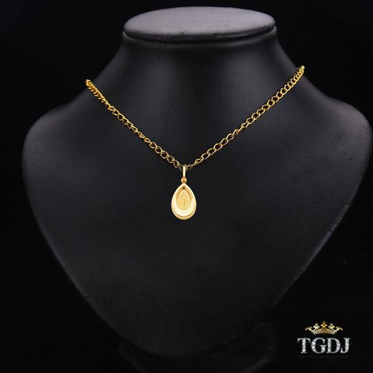 Top Gold & Diamond Jewelry 14K Yellow Gold Guadalupe Religious Pendant