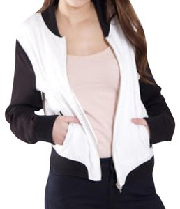 BB Dakota Bomber Contrast Color-blocking Comfortable Sporty Black Jacket