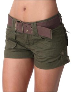 Guess Khaki Boyfriend Summer Mini/Short Shorts Green
