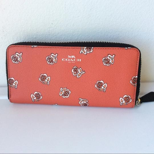 Coach New With Tags Set Tote in Watermelon / Black