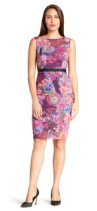 Adrianna Papell Sheath Floral Dress