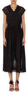 Coal (Black) Maxi Dress by Ulla Johnson Midi Cotton Black Embroidered