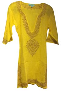 Melissa Odabash Briony Embroidered Cotton Kaftan Tunic Coverup