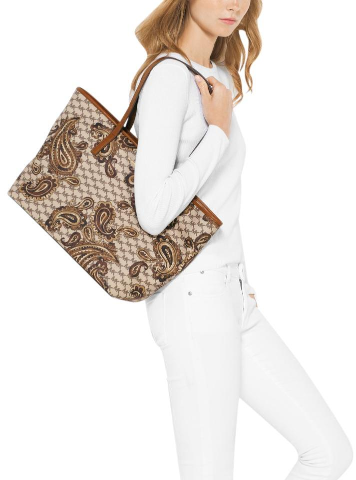 d484d8eae6a5f5 Michael Kors Studio Paisley Emry Large Zip Tote in Luggage Image 0 ...