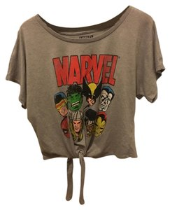 Marvel Comic Cartoon Hero Vintage T Shirt Grey