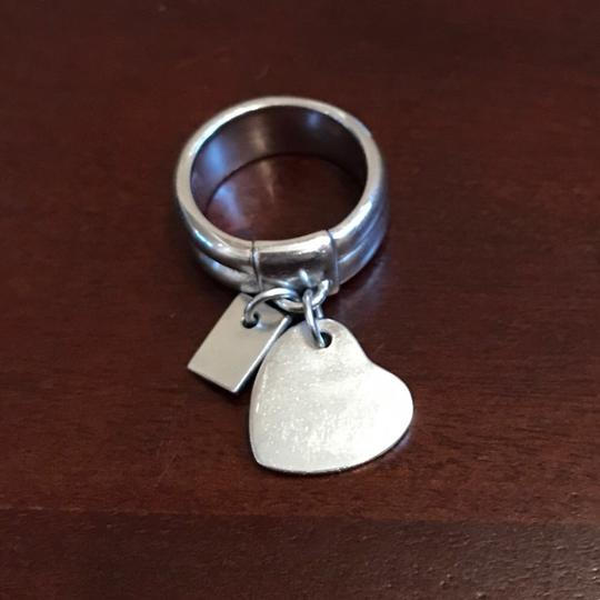 Other Sterling Silver Heart Charm Love Letters Ring