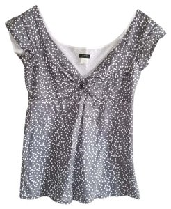 J.Crew T Shirt Gray Polka Dot