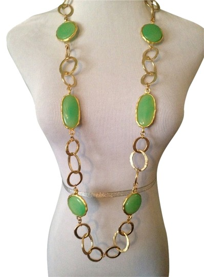 Preload https://img-static.tradesy.com/item/2104492/kenneth-jay-lane-greengold-pastel-agate-gemstone-extra-long-necklace-0-0-540-540.jpg
