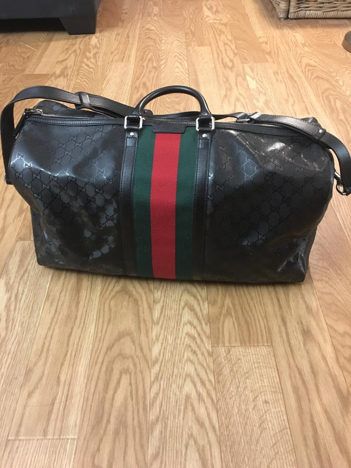 c47646892348 Gucci Duffle 500 By Carry On with Signature Web Detail Black Canvas ...