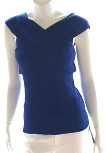 INC International Concepts Knit Tank Sleeveless Bandage Top royal blue