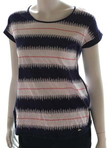 Tommy Hilfiger Cotton Striped T Shirt white